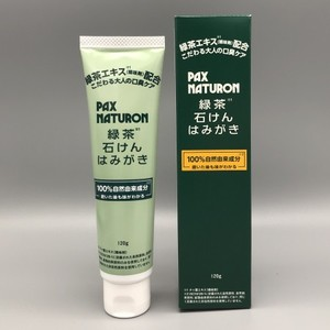 パックスナチュロン緑茶せっけんはみがき 120g (送料別途)